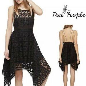 Free People Like Honey Asymmetrical Lace Dress